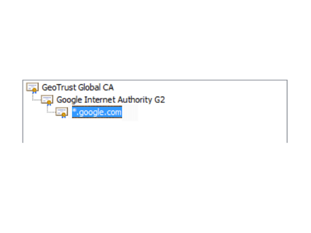 certification of google.com