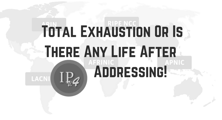 Total Exhaustion Or Is There Any Life After IPv4 Main Logo