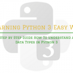 Step by Step Guide How To understand a Data Types in Python 3