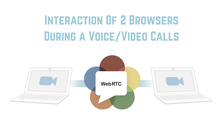 WebRTC Interaction of 2 Browsers During a Voice/Video Calls