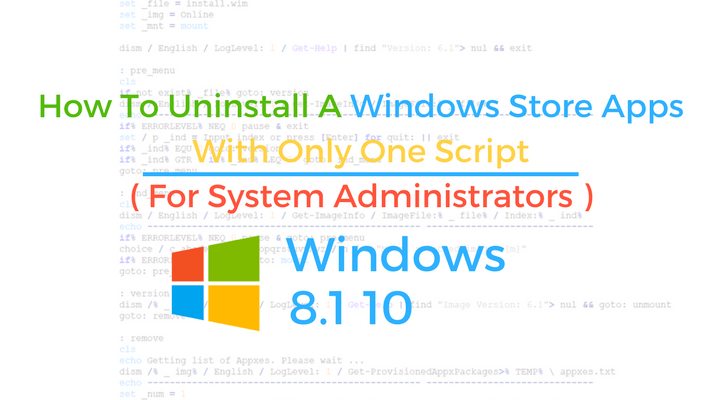 Windows Store Apps Script Main Logo
