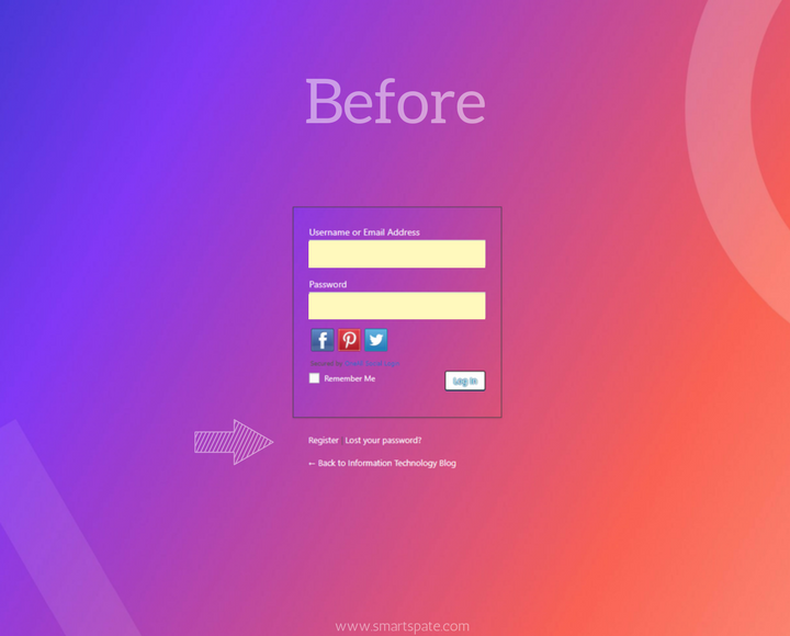 Before LOGIN PAGE PART 1