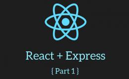React + Express Main Logo Part 1