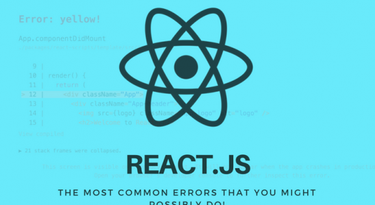 REACT.JS Common Errors Main Logo