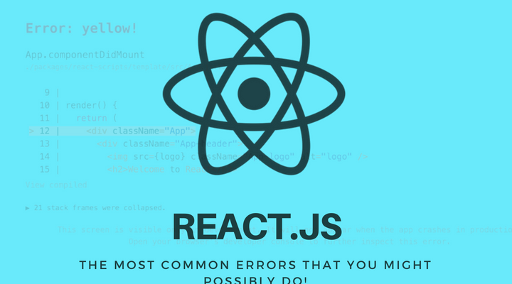 REACT.JS Common Errors Main Logo