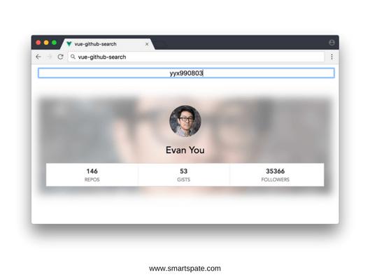 GitHub User Search Web App Photo 1