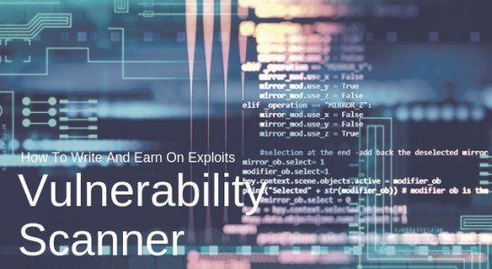 How To Write A Vulnerability Scanner And Earn On Exploits Main Logo