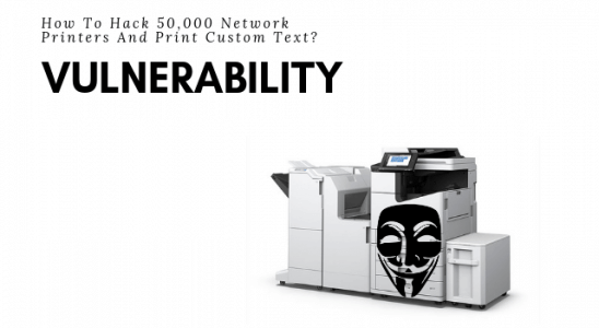 Network Printers Hacked Main Logo