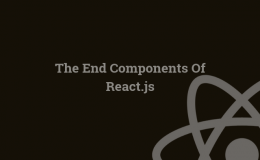 The End Components Of React.js Main Logo